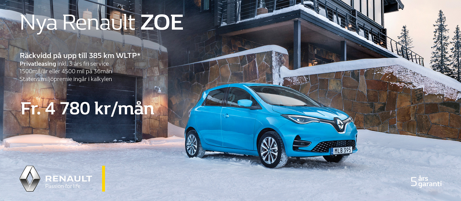 Privatleasing nya Renault Zoe